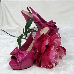 Cato Hot Pink Bow Tie Heels Size 9M